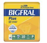 Fralda Geriátrica Bigfral Plus P - Com 10 Unidades