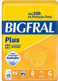Fralda Geriátrica Bigfral Plus (Tam. G - Pct c/ 08 Unds.) - Bigfral