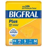 Fralda geriátrica bigfral plus tamanho médio - 9 unidades - Pom pom