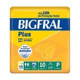 Fralda geriátrica bigfral plus tamanho pequeno - 10 unidades - Pom pom