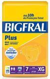 Fralda geriatrica bigfral plus xg c/ 7
