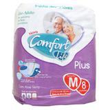 Fralda geriatrica comfort life tamanho médio - 8 unidades - Cache prod descartav