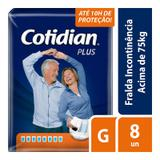 Fralda Geriátrica Cotidian Plus G Com 8 Unidades