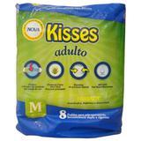 Fralda geriátrica kisses tamanho m - 8 unidades - Midiz ind comercio