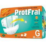 Fralda geriatrica protfral g 4 pct.c/30 cxf