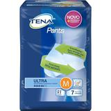 Fralda geriátrica tena pants c/7 ultra p/m