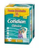 Fralda P/ Adultos Cotidian Clássica Tamanho G - C/36 Unissex