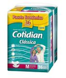 Fralda P/ Adultos Cotidian Clássica Tamanho M - C/36 Unissex