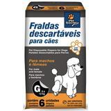 Fraldas Descartáveis para Cães Tamanho G - Pet society