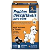 Fraldas Descartáveis para Cães Tamanho M - Pet society