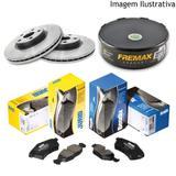 Freio discos e pastilhas honda new civic 1.8 07/12 (kit dianteiro) - Kit - freio (fremax/jurid)