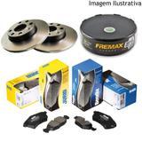 Freio discos e pastilhas renault clio 1.0 95/15 (kit dianteiro) - Kit - freio (fremax/jurid)