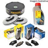 Freio discos pastilhas fluido honda new civic 1.8 07/12 (kit dianteiro) - Kit - freio (fremax/jurid)
