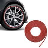 Friso Adesivo Protetor para Rodas de Liga Leve 8 Metros 8mm Vermelho Universal Guarnição Decorativa - Sanfil