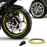 Friso de Roda Refletivo 7mm com Aplicador Adesivo Amarelo 3M