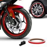 Friso de Roda Refletivo 7mm com Aplicador Adesivo Vermelho 3M
