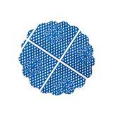Fundo de Renda para Docinhos Azul Escuro 100 unidades - Festabox