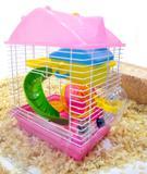 Gaiola Hamster Play Luxo Mix - Rosa - 23cm x 17cm x 30cm - Pet castle