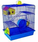Gaiola Hamster Sirio 3 Andares Super Luxo Azul - Jelpalst