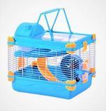 Gaiola Hamster Vip Acrílico Completa Azul 30x24x24 - The pets brasil.