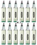 Galheteiro Redondo 500ml Vinagre Pacote 12 Unidades Biqueira Preta - Black - Vetrolar