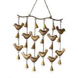 Gancho Pássaros Punjab Dourado - Trevisan