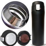 Garrafa Térmica 500ml Aço Inox Inquebrável Vacuum Cup Preta