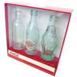 Garrafas coca-cola bottle evolution - set com 3 - Yaay