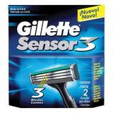 Gillette carga para aparelho sensor 3 c/2