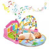 Ginásio com Tapete de Atividades Bebê Som e Luz - Casa Rosa - Kitstar