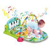 Ginásio com Tapete de Atividades Bebê Som e Luz - Piano Azul - Kitstar