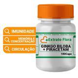 Ginkgo Biloba 20mg + Piracetam 400mg 180 Cápsulas - Extrato flora