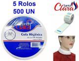 Gola Higiênica - Pacote com 05 Rolos - Total 500 Golas - Santa Clara