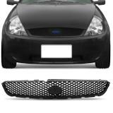 Grade Dianteira Central Ford Ka 2002 2003 2004 2005 2006 2007 Preta  Espaço Emblema - Prime