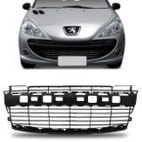 Grade Dianteira Para-choque Peugeot 207 2009 2010 2011 2012 2013 2014 2015 Preto - Prime