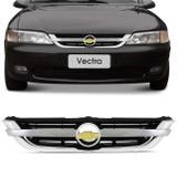 Grade Dianteira Vectra 97 a 05 Filete Cromado Emblema - Kit prime