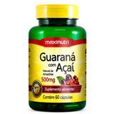Guaraná com Açaí 500mg - Maxinutri - 60 Cápsulas  Natural da Amazônia