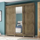 Guarda-Roupa Casal 3 Portas de Correr com Espelho 9300 Araplac
