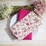 Guardanapo Tricoline Floral Rosa Grande - Tc casa