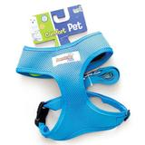 Guia e Peitoral American Pets Confort Azul