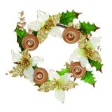 Guirlanda do advento com folhas e poinsetias marfim: 1517585 - Cromus