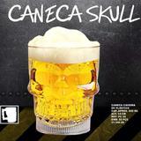 Halloween Caneca Caveira Copo Acrílico 600ml Skull Chopp Suco Cerveja - Coday