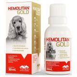 Hemolitan Gold Gotas Vetnil Para Cães E Gatos 30ml