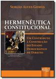 Hermeneutica constitucional - um contributo a cons - Jurua