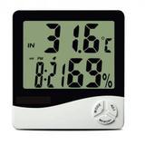 Higrômetro Digital Medidor De Temperatura E Umidade Com Relógio E Alarme - Hpl
