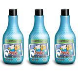Hora Da Aventura Maçã Verde 2em1 Shampoo Infantil 500ml (Kit C/03)