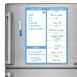 Ímã De Geladeira - Porta Recados - Modelo Azul - Micro oficina