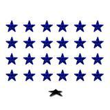 Imãs Enfeite de Geladeira e Painel - Estrela Azul 24 Unidades - Tudoprafoto