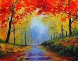 Impressões de Outono - Graham Gercken - Tela 30x38 Para Quadro - Santhatela