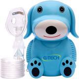 Inalador e Nebulizador G-Tech Nebdog - Azul, Bivolt - Gtech